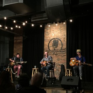 Phil Barton, Jeff Cohen and JT Harding perform at Nashville's The Listening Room Cafe